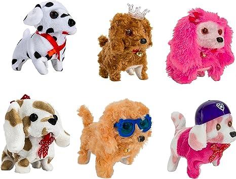 1 Pack de 6) senderismo y peluche feliz perro que ladra vacaciones de recogida de preescolar Juguetes: Amazon.es: Bebé