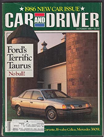 CAR & DRIVER Toyota Celica GT-S VW Scirocco GTX Ford Taurus LX ++ 10