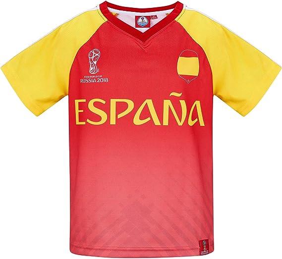 2018 FIFA World Cup Chicos Camiseta Manga Corta - Rojo - 140: Amazon.es: Ropa y accesorios