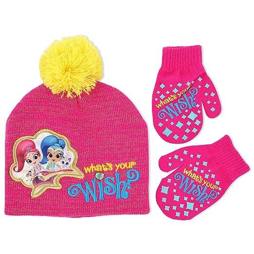 Nickelodeon Girls  Little Shimmer and Shine Acrylic Lurex Knit Winter Beanie  Hat ec991f785c5b
