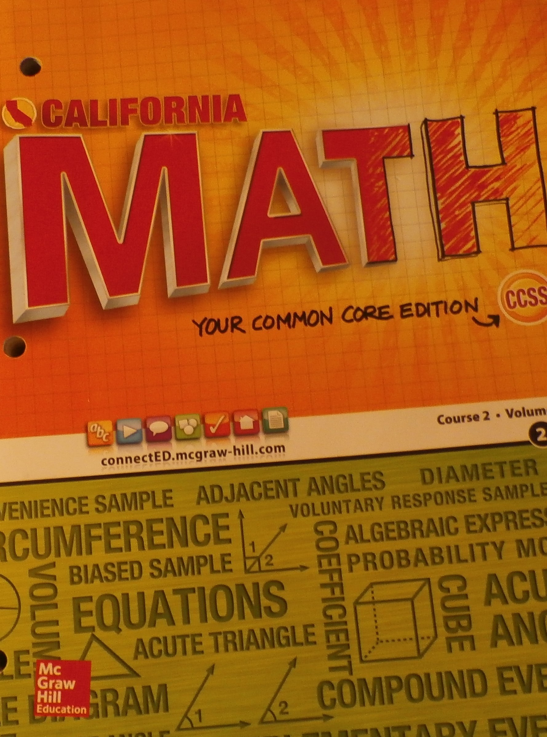 California math your common core edition course 2volume 2 carter california math your common core edition course 2volume 2 carter cuevas day 9780021359165 amazon books fandeluxe Gallery