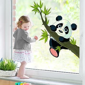 Amazon.de: Fenster Aufkleber Klettern Panda Fensterfolie Fenster ...