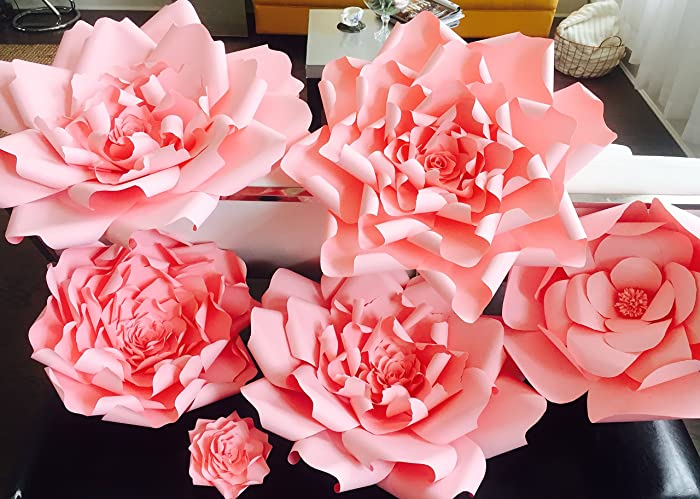 Amazon giant pink paper flower backdropgiant pink paper flower giant pink paper flower backdropgiant pink paper flower wedding backdropnursery room decor mightylinksfo