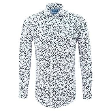 fe0d5aeb199 Tresanti White Mens Shirt with Stylistic Flower Print TCSHCC030A ...
