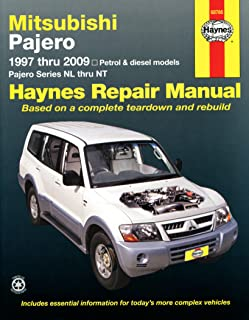 haynes mitsubishi shogun pajero owners manual handbook 97 09 3 0 rh amazon co uk pajero owners manual 1992 mitsubishi pajero owners manual download free