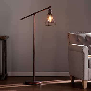 Southern Enterprises Tryker Floor lamp, Dimension: 26.25 inches diameter x 50-52 inches high