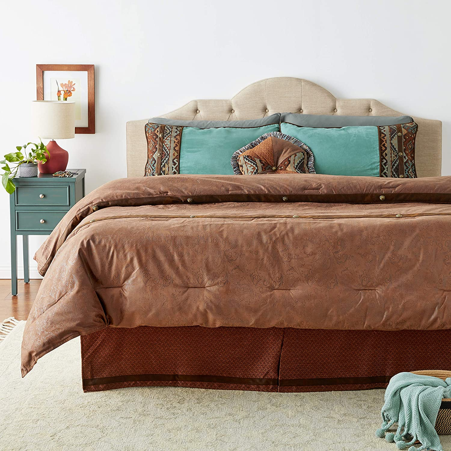 HiEnd Accents Del Rio Comforter Set, Super King