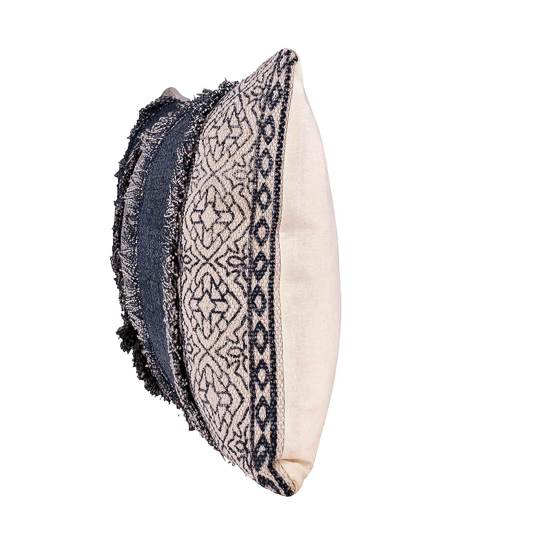 Fab Habitat Decorative Lumbar Pillow Includes Pillow Insert Handmade Large Accent Pillow, 14 x 24 Modern Neutral Designs – Mix Match Clarens