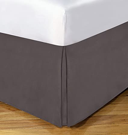 Cal King Bed Skirt.Today S Home Microfiber Bed Skirt Dust Ruffle Classic Tailored Styling 14 Drop California King Grey