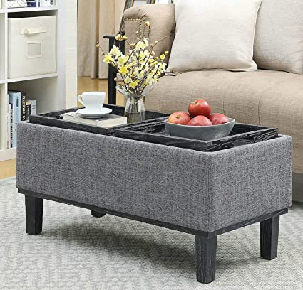 Amazoncom Storage Ottoman Coffee Table Modern Eco Friendly With