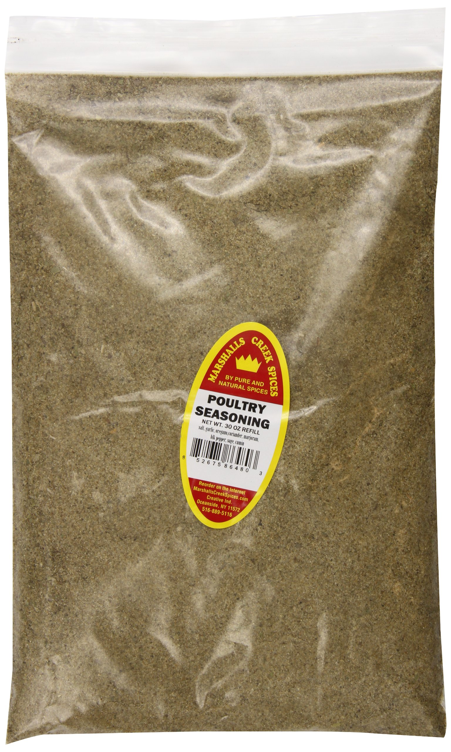 Marshalls Creek Spices Refill Pouch Poultry Seasoning, XL, 30 Ounce