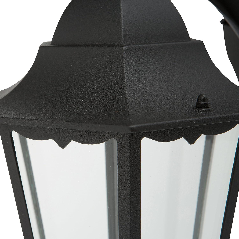 Ranex 10.009.15 Farol Triple cl/ásico Aluminio//Cristal 2.20 m Negro