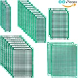 Elegoo 32 Pcs Double Sided PCB Board Prototype Kit for DIY Soldering with 5 Sizes Compatible with Arduino Kits