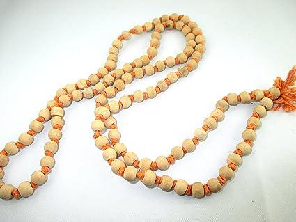 Amazon com: Hitech 108 Beads White Sandalwood (Chandan) mala