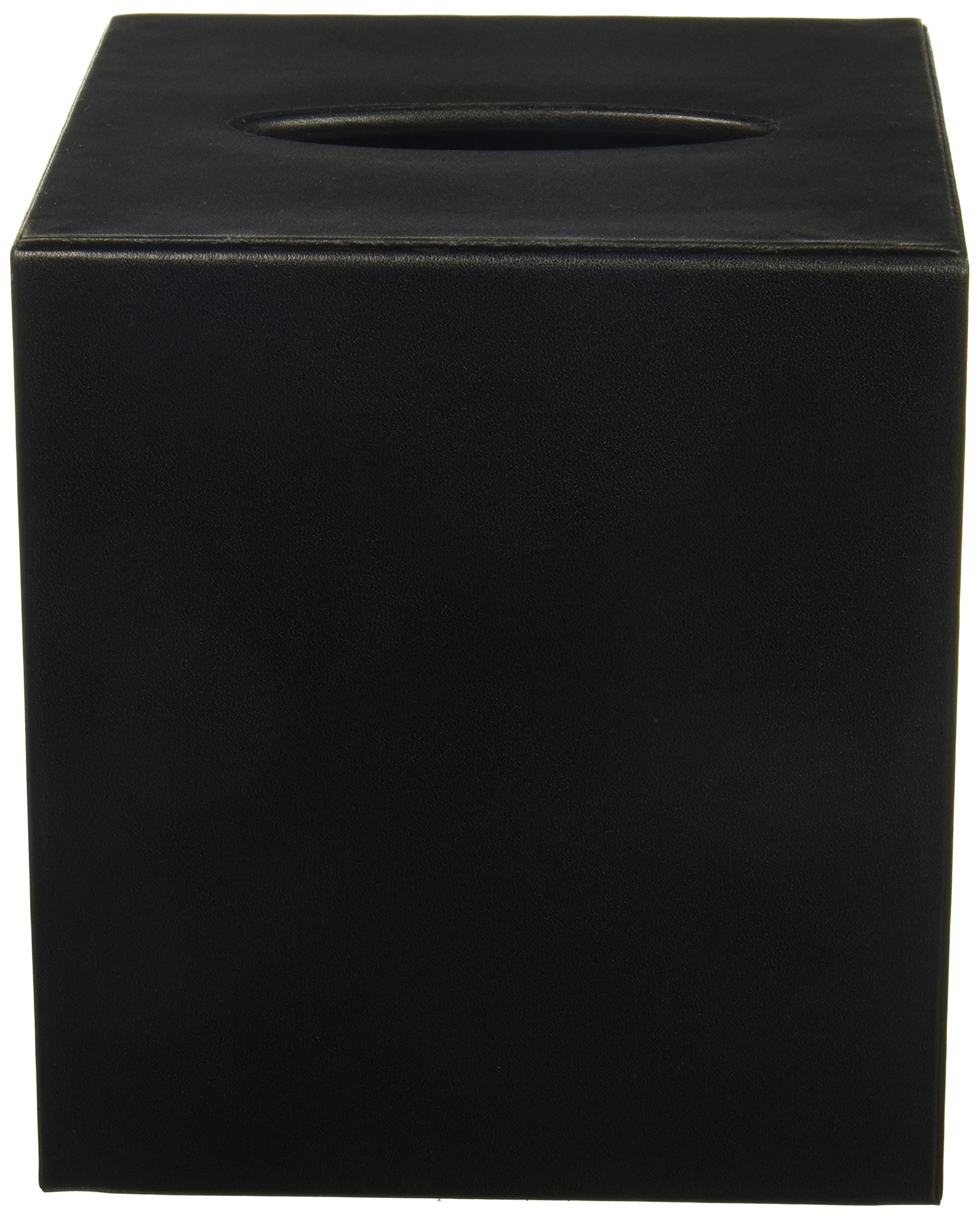 Dacasso Leather Tissue Box Cover, Classic Black (A1037)