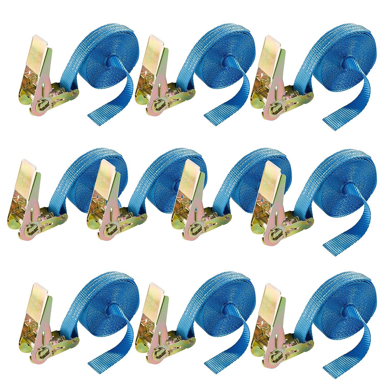 Arebos 4260199754412 Lot de 10 sangles de s/écurit/é 800/daN 6/m x 25/mm