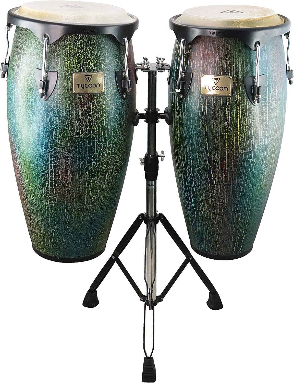 NEW TYCOON PRO QUALITY SUPREMO NATURAL WOOD LATIN BONGO PERCUSSION DRUMS SET