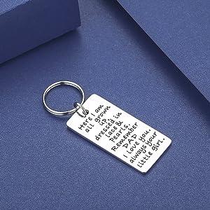 Amazon.com: CJ & M regalos para Papá Llavero joyas, boda ...