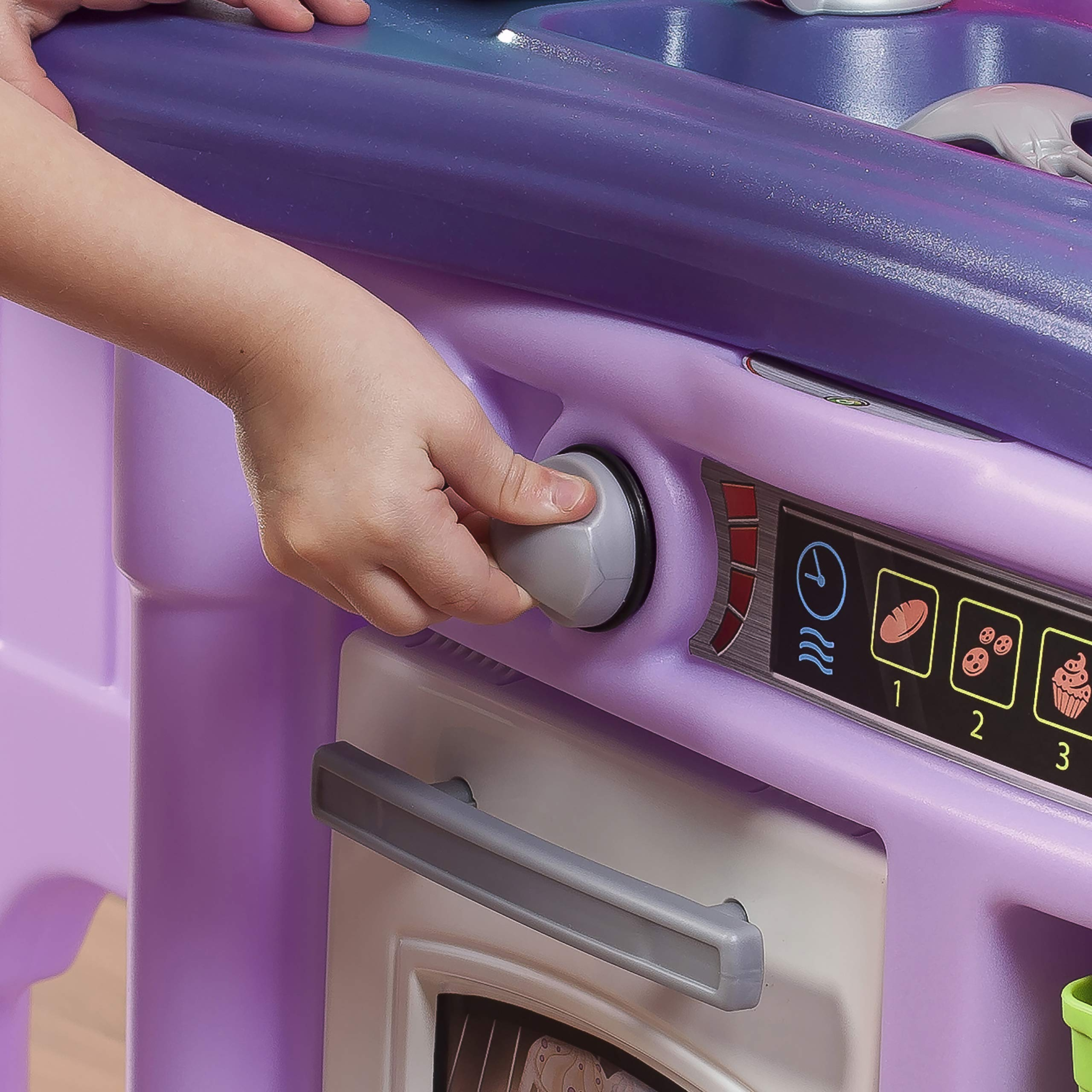 Step2 Create & Bake Play Kitchen with Toy Baking Set, Pink & Purple, 40'' H x 34.25'' W x 12'' D by Step2 (Image #4)