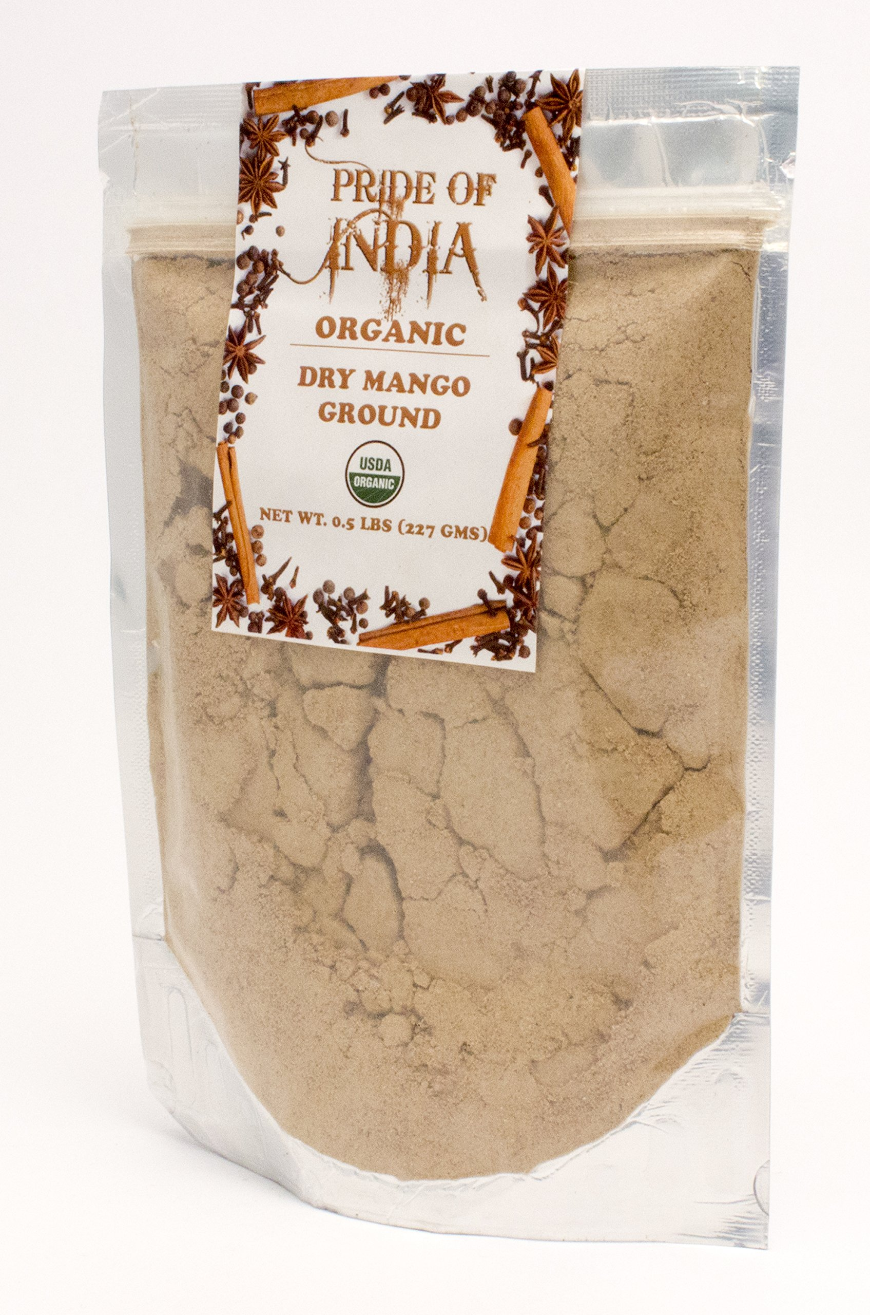 Pride Of India - Organic Dry Mango (Amchur) Powder, Half Pound