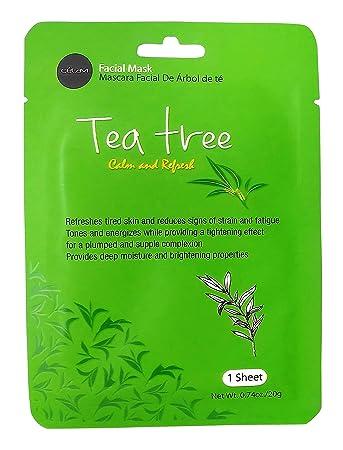 Celavi Essence Facial Mask Paper Sheet Korea Skin Care Moisturizing 24 Pack (Tea Tree)
