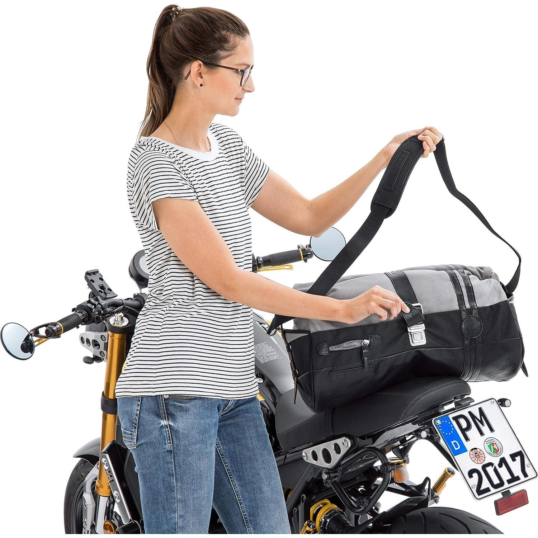 Multipurpose Textil Unisex Held Motorrad-Hecktasche Hecktasche Canvas 4742 schwarz//grau 20 Liter Ganzj/ährig