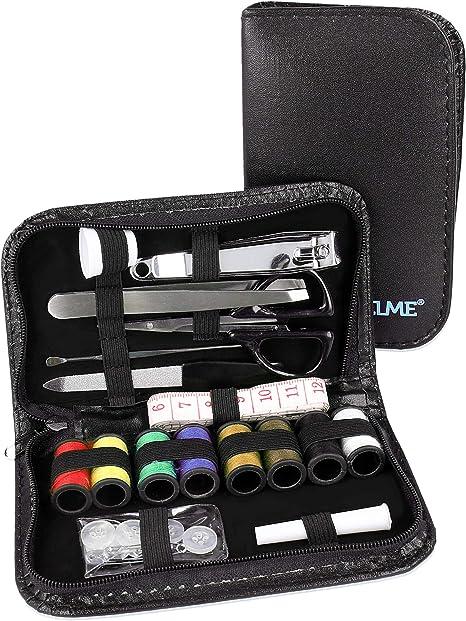 Set de costura Lantelme pequeño para viaje, set de emergencia, accesorios de costura, herramientas de viaje, pequeño set de costura de viaje, estuche 8111: Amazon.es: Hogar