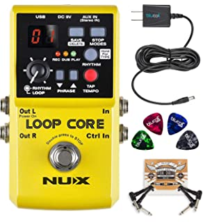 Nux Ndl-2 Jtc Drum & Loop Guitar Effect Pedal Looper 6 Minutes Recording Time 10 Drum Rhythms Smart Tap Tempo With Footswitch Musical Instruments