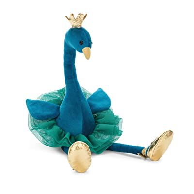 Jellycat Fancy Peacock Stuffed Animal, 15 inches: Toys & Games