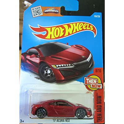 Hot Wheels 2016 Then and Now '17 Acura NSX 108/250, Maroon: Toys & Games