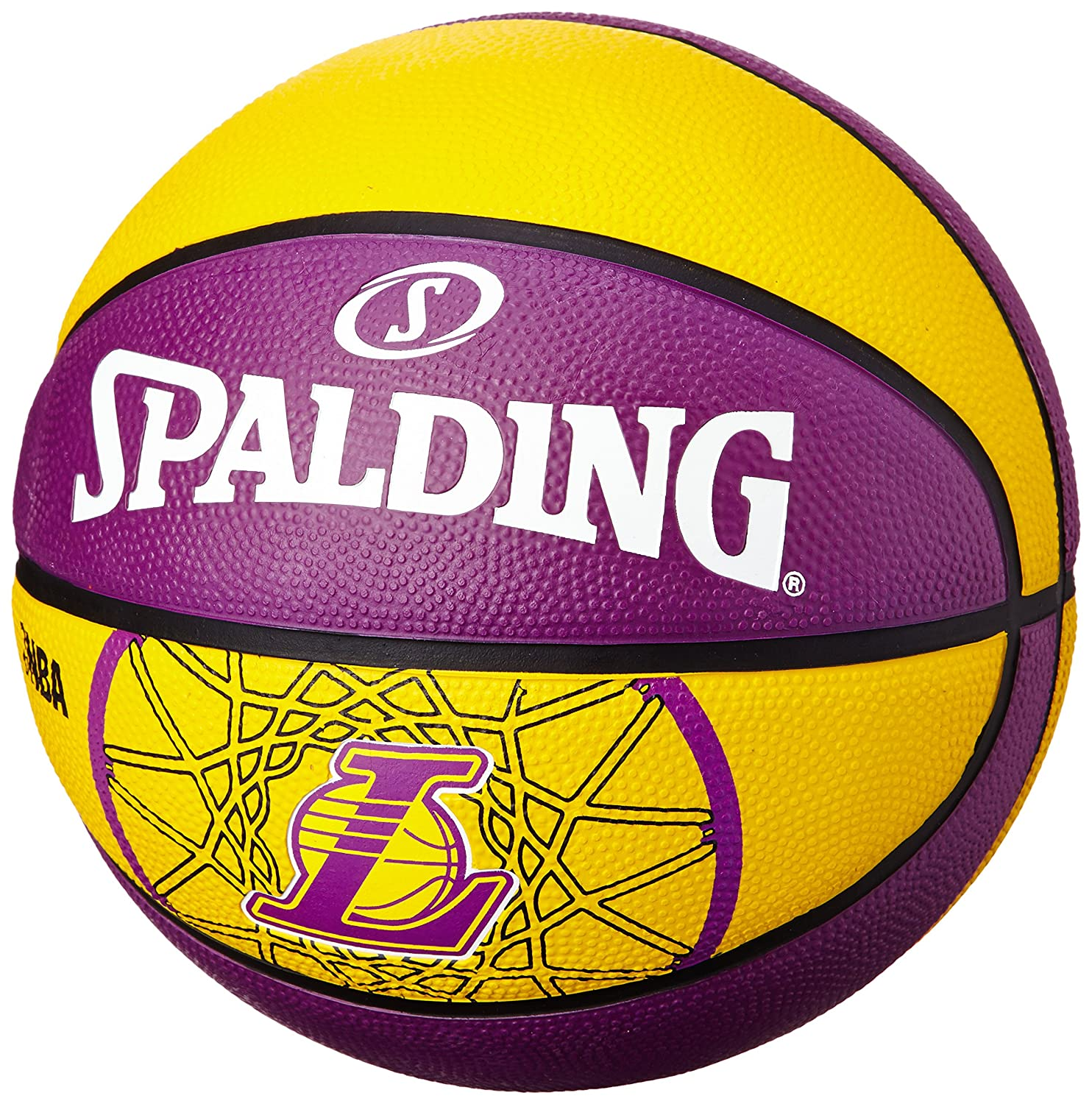 Spalding Ballon Team Ball L.A.Lakers Taille 7 Gelb/Lila 3001587010617