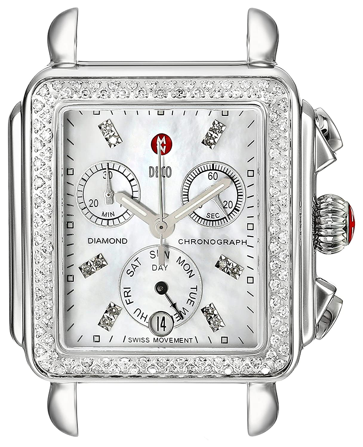 18efd3881f41 Michele women a deco diamond accented stainless steel watch head michele  watches jpg 1216x1500 Replica michele