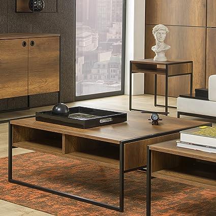 Adam And Illy VIR0883 Virtus Coffee Table, Baroque/Black
