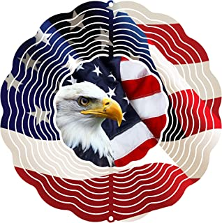 "product image for Next Innovations 101408001-EAGLEFLAG Wind Spinner, 10"" Diameter, Multicolor"
