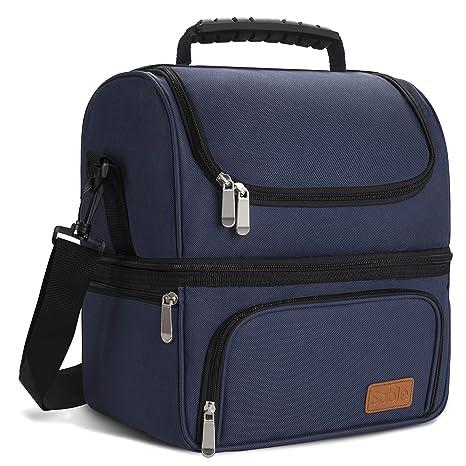 Amazon.com: Bolsa de almuerzo con 2 compartimentos ...