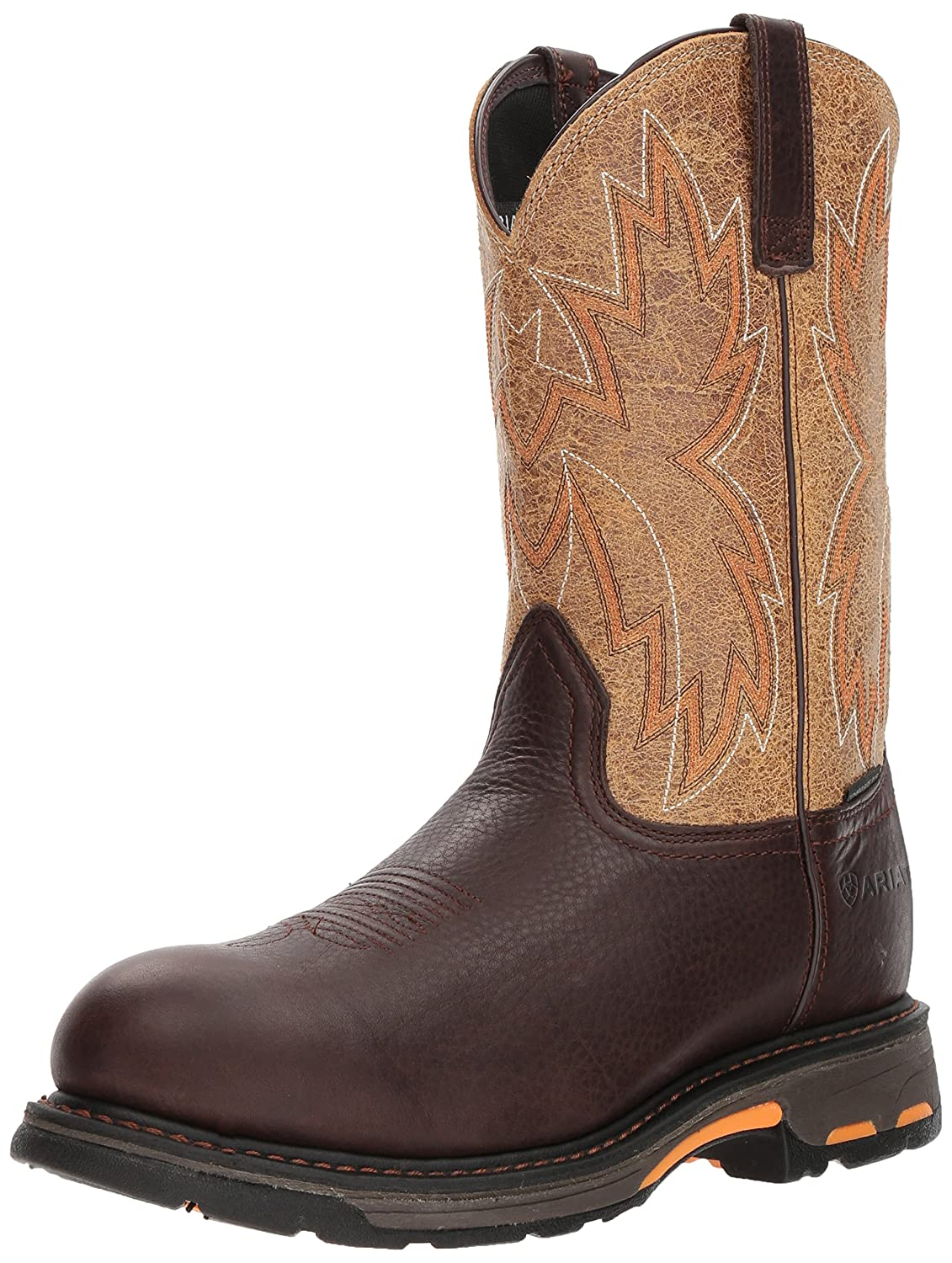 Ariat Work メンズ Workhog Raptor Composite Toe Dark Chocolate/Crazy Tan 10.5 E US 10.5 E USDark Chocolate/Crazy Tan B076RCXDZB