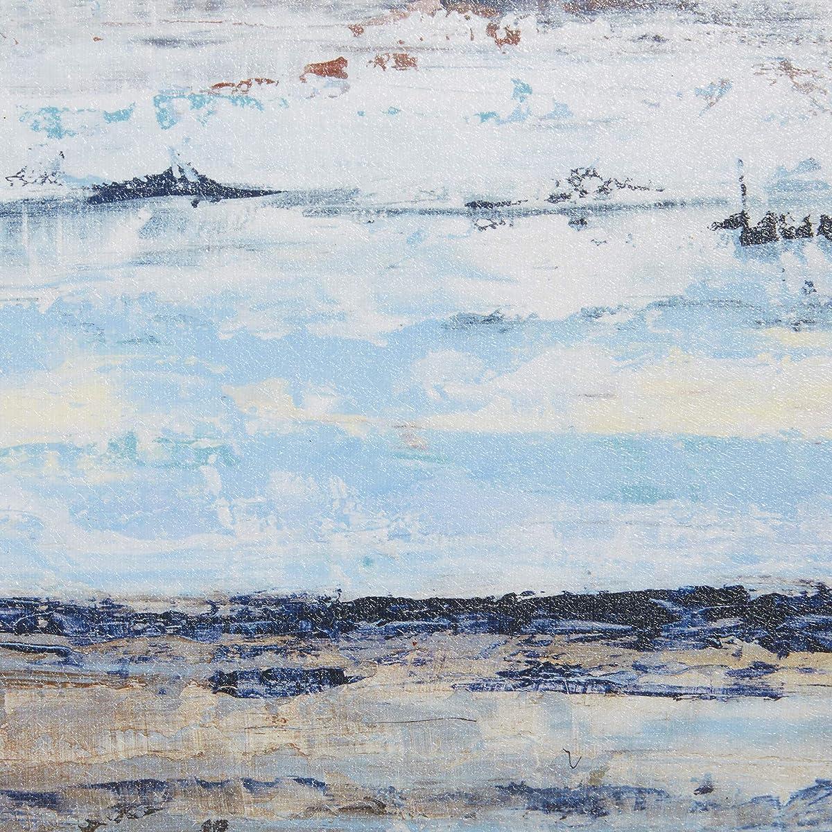 Blue Bliss Blue Grey Framed Canvas Wall Art 19.6X19.6 3 PieceMulti Panel , Novelty Modern / Contemporary Wall Décor