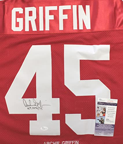 Image Unavailable. Image not available for. Color  Archie Griffin Ohio  State Buckeyes Signed Autographed Custom Red Stat  45 Jersey ... 23eee2bee