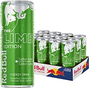 Red Bull Lime Bebida Energética - Paquete de 12 x 250 ml