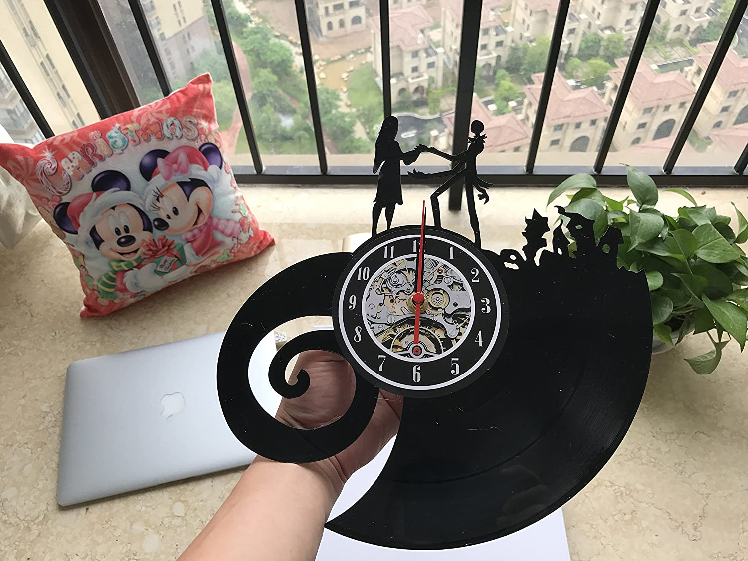 The Nightmare Before Christmas Love Vinyl Record Wall Clock ...