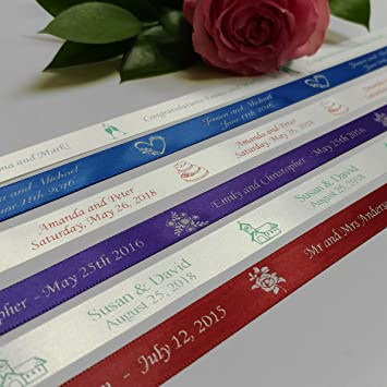 Amazon Personalized Wedding Ribbon Customized With Your Text