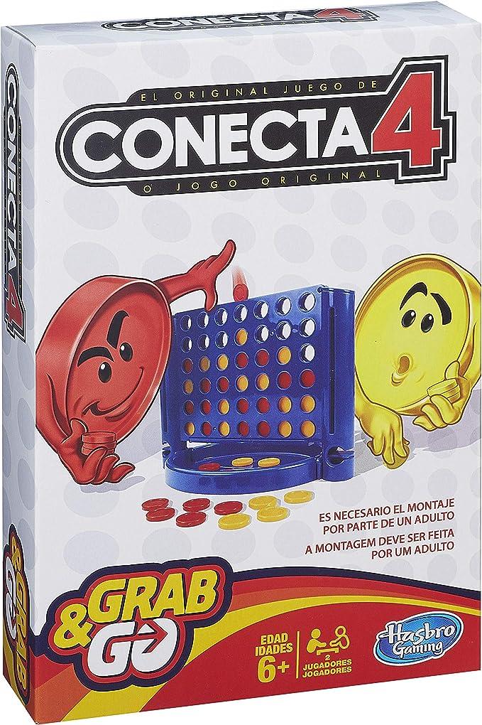 Hasbro Gaming- Conecta 4 Gaming Travel Juego de Viaje, Versión español (Hasbro Spain B1000175): Amazon.es: Juguetes y juegos