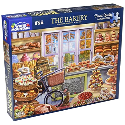 White Mountain Puzzles The Bakery - 1000 Piece Jigsaw Puzzle: Toys & Games [5Bkhe0305051]