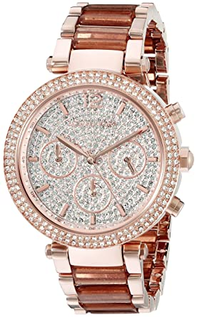 f71c0f5c7d5 Amazon.com  Michael Kors Women s Parker Rose Gold-Tone Watch MK6285 ...