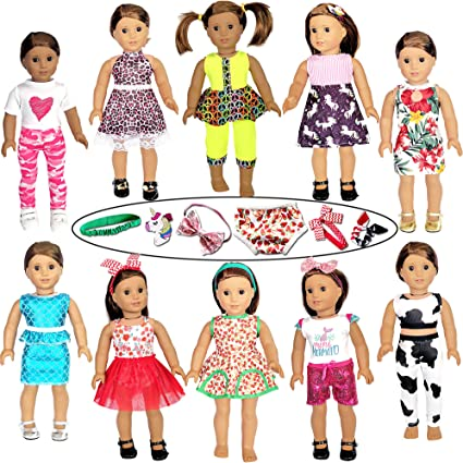 Handmade Doll Clothes Dress Underwear Pants Shoes for 18inch Girl Dolls Toys New
