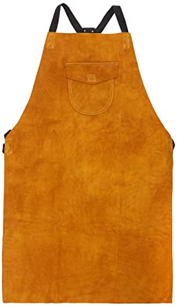 Portwest Workwear Mens Leather Welding Apron Tan One