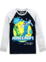 Amazoncom JINX Minecraft Big Boys Tight Spot LongSleeve TShirt - Minecraft top hauser
