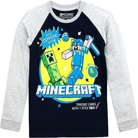 Todo para el streamer: Minecraft - Camiseta de Mangas largas para niño