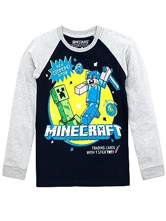 Minecraft - Camiseta de Mangas largas para niño: Amazon.es: Ropa y accesorios