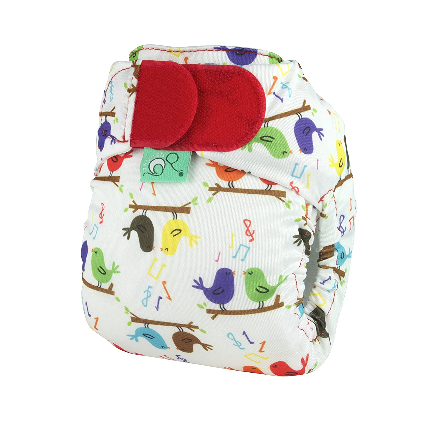 Tots Bots Teenyfit Hook and Loop Nappy (Tweet Print) 5060131217888